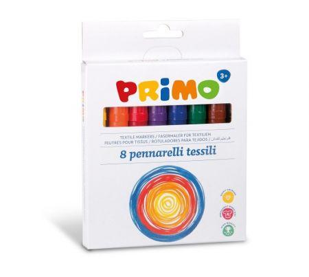 Popisovače PRIMO na textil, 8ks, blistr