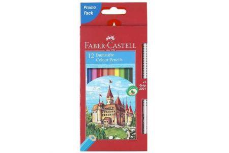 FABER Pastelky 12ks + 1 tužka