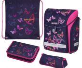 Školní taška Midi Duhový motýl-vybavená - aktovta / batoh školní (Herlitz)