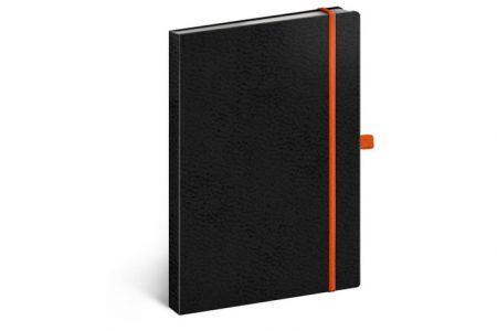 Notes Vivella Classic černý/oranžový, linkovaný, 15 x 21 cm / A-5980
