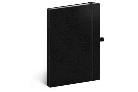 Notes Vivella Classic černý/černý, tečkovaný, 15 x 21 cm / A-5986