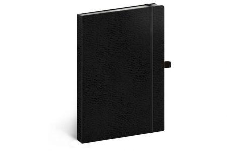 Notes Vivella Classic černý/černý, linkovaný, 15 x 21 cm / A-5977