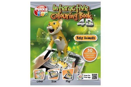 Interaktivní omalovánky 4D Pukka Fun-zvířecí mláďata
