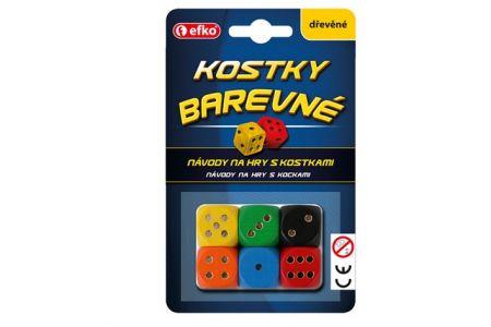 EFKO Barevné hrací kostky dřevěné 54544