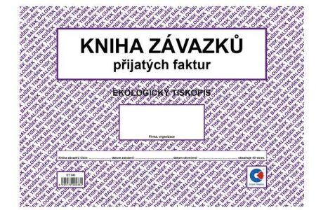 Kniha závazků A4 (kniha přijatých faktur, oboustranná) / ET340 / Baloušek tisk