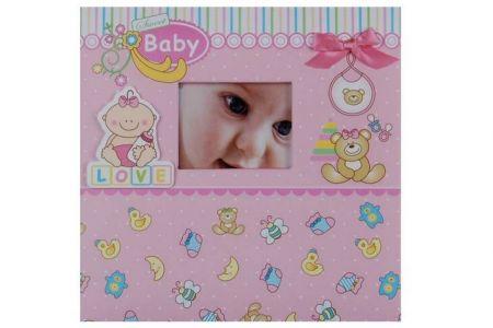 Fotoalbum 10x15 baby 20 růžová