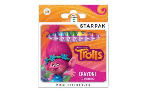 Pastelky voskové 12 barev Trolls