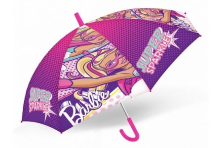 Deštník dětský Barbie (délka 45cm / průměr 75cm)