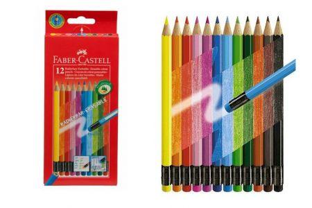 FABER Pastelky 12 barev s pryží