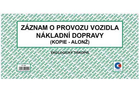 Záznam o provozu vozidla nákladní dopravy 2/3 A4 (alonž) / ET220 / Baloušek tisk