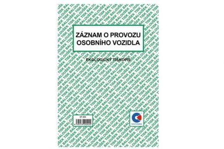 Záznam o provozu osobního vozidla A5 (stazka) / ET205 / Baloušek tisk