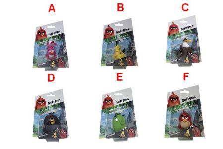 Angry Birds 3D figurka 7-8,5cm s nylon přívěskem