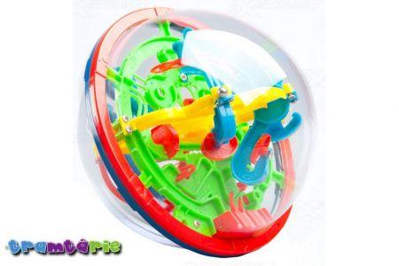 Hlavolam 3D Tramtárie 13cm - 100 překážek(bludiště Intellect Ball Labyrint 13 cm)