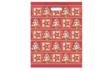 Taška vánoční 46x35 červená fantazie