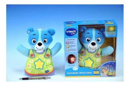 Usínáček Medvídek-modrý Vtech pro nejmenší