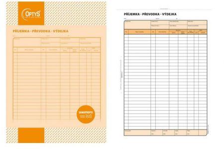 Příjemka-převodka-výdejka A4 100 listů  samopropisovací OPTYS 1075