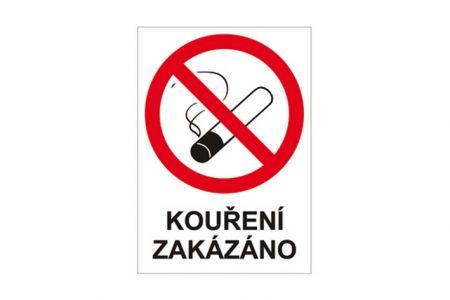 Plastová cedulka Kouření zakázáno A4