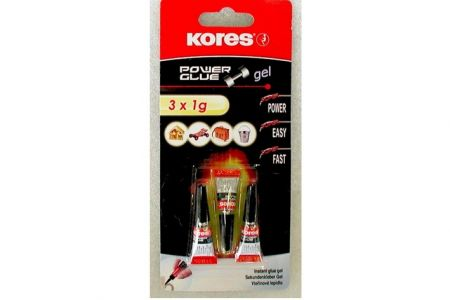 KORES Power glue gel 3x1g blister