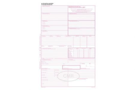 Mezinárodní nákladní list CMR A4, samopropisovací, 5 listů - CENA ZA 100ks OPTYS