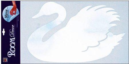 Samolepky na zeď labuť zrcadlová 60x32 cm