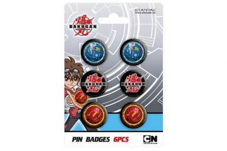 Odznak Bakugan 6ks