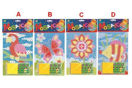 Mozaikový hrací set 23x16cm 4 druhy
