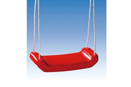 Houpačka plastová (prkénko) závěsná v sítce červená