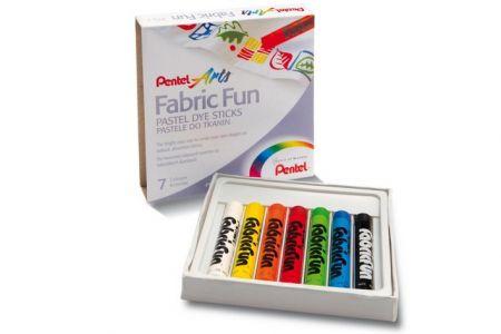 PENTEL Barvy na textil 7ks