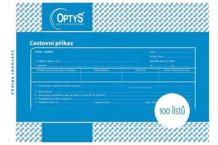 Cestovní příkaz A5, 100 listů OPTYS