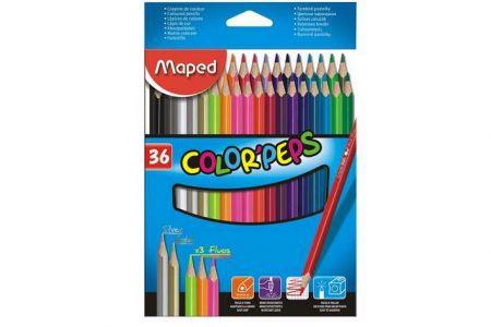 Pastelky trojhranné MAPED Color Peps 36ks