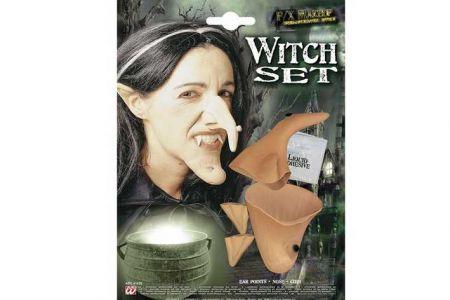 Sada čarodějnice s latexovým lepidlem nos,uši,brada