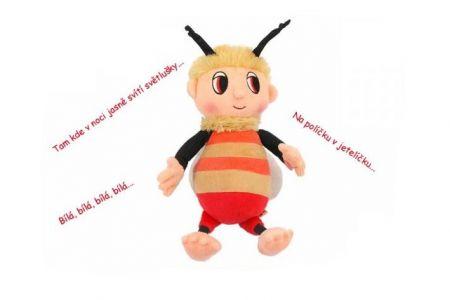 Včelí medvídek-Čmelda 29cm plyšový s písničkami na BO