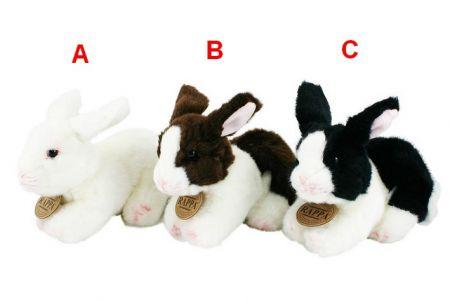 Plyšový králík 16cm ležící 3 druhy