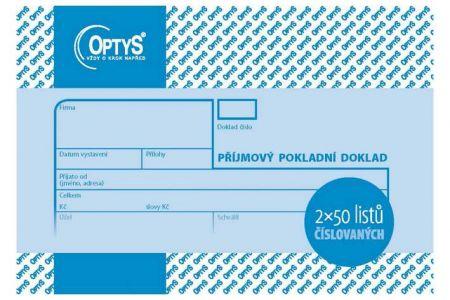 Příjmový doklad A6 OPTYS (2 x 50 listů číslovaný)
