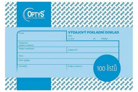 Výdajový doklad A6, 100 listů OPTYS