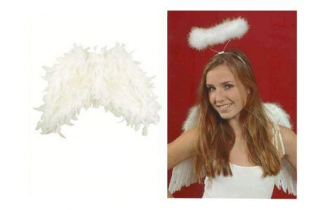 Andělská křídla z peří 38cm