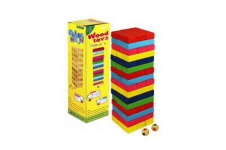 Hra věž Jenga barevná dřevo