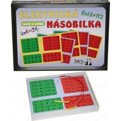 Elektrická násobilka společenská hra na baterie v krabici 22x16x3cm