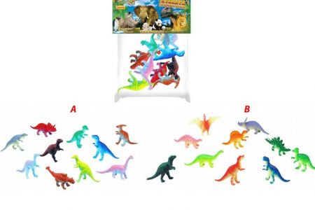 Dinosauři v sáčku 12ks 2 druhy