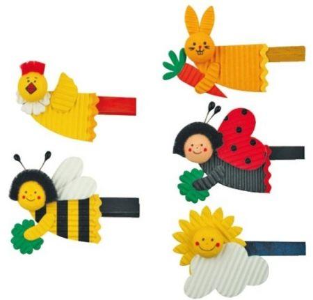 Figurka na kolíčku slepička,včelka,zajíc,beruška,sluníčko 10 cm