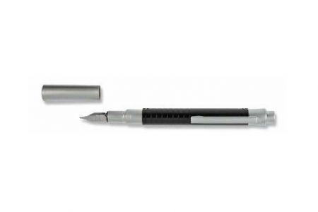 Pero plnící stříbrno-černé