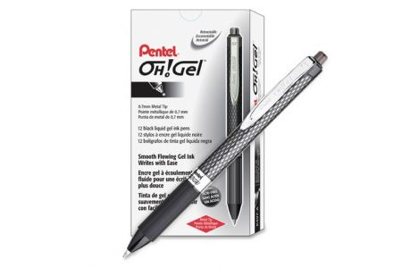 Pentel Gel roller černý 0,7 gelové pero
