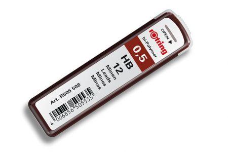 Náhradní tuhy do mikrotužky HB-0,5 mm 12 kusů (tuha) ROTRING