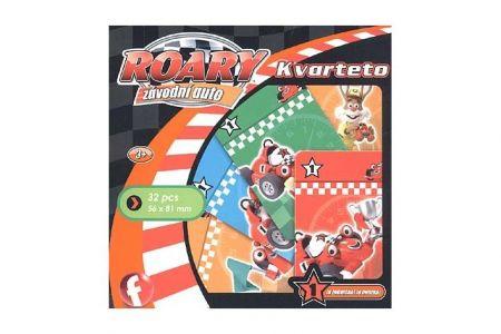 Kvarteto karetní hra Roary Závodní auto