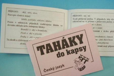 Taháky do kapsy český jazyk