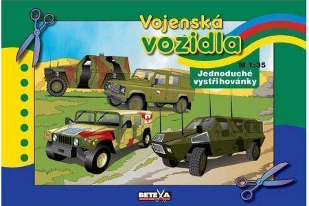 Vystřihovánky vojenská vozidla (vystřihovánka BETEXA)