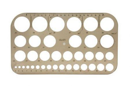 KOH-I-NOOR Šablona kružnicová 749161 kouřová