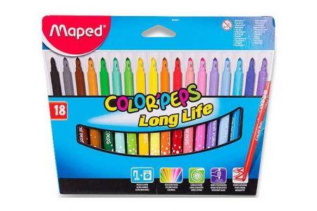Maped fixy Color Peps 18ks v papírové krabičce