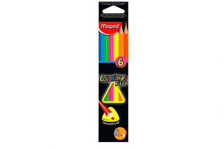 Pastelky MAPED Color Peps FLUO 6ks