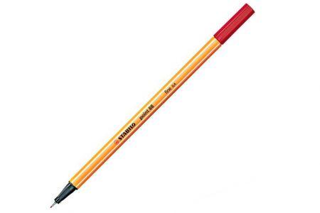 STABILO Liner point 88 tmavě červená 0,4mm